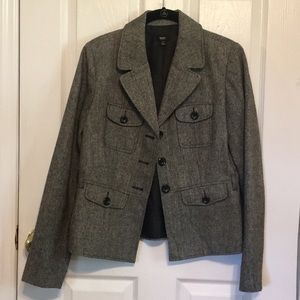 MOSSIMO TRENCH STYLE TWEED BLAZER